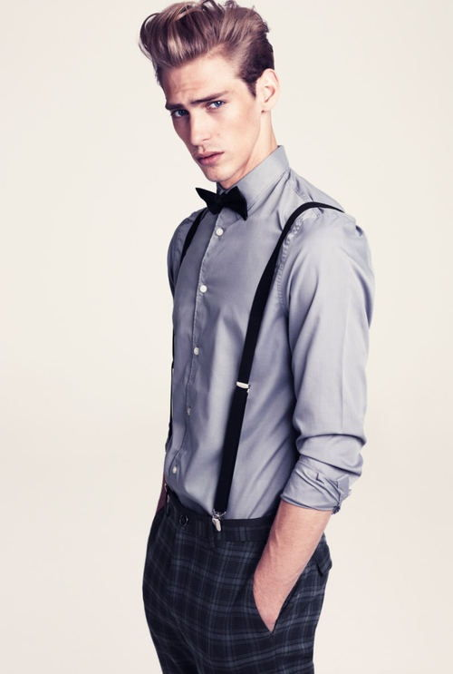 #suspenders #men #style #bowtie omg give me a man that dresses like this.