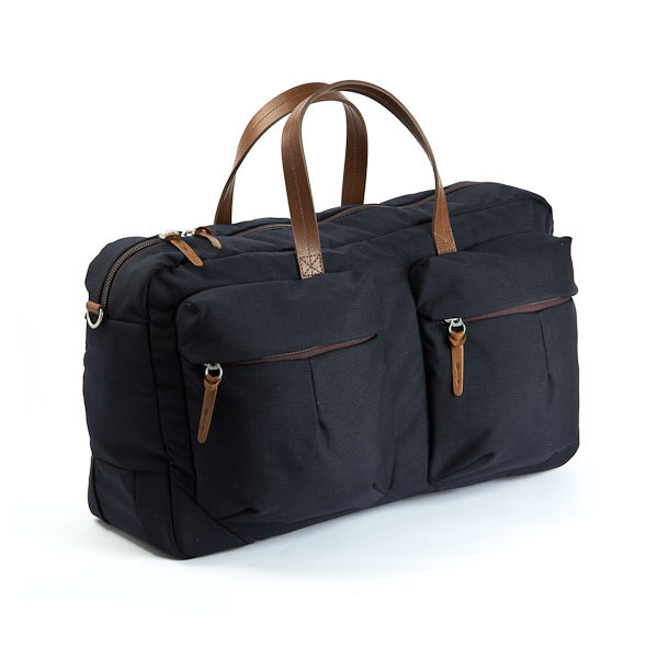 Property Of_ Tommy Trip Bag Navy Nylon Front Side low